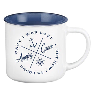 Amazing Grace Nautical Camp Mug
