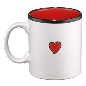 Love Coffee Mug - White with Red Back