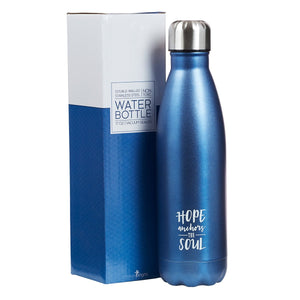 Hope Anchors the Soul Stainless Steel Water Bottle with Gift Box
