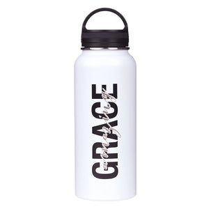 Amazing Grace Wide Mouth Stainless Steel Water Bottle
