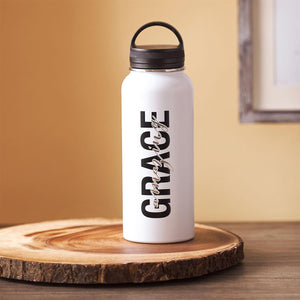 Amazing Grace Wide Mouth Stainless Steel Water Bottle - Lifestyle