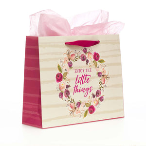 Enjoy the Little Things Gift Bag Set with Tissue in Bag