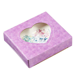 Violet Floral Heart Trinket Dish in Gift Box
