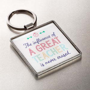 A Great Teacher Keyring Angle