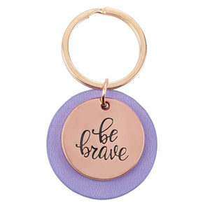 Be Brave Rose Gold Keychain