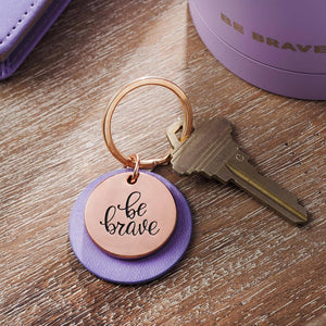 Be Brave Rose Gold Keychain Lifestyle