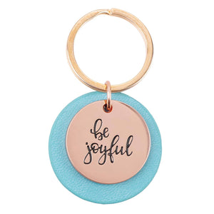 Be Joyful Rose Gold Keychain