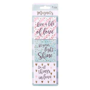 Live a Life of Love Magnet - Set of 3 in Package