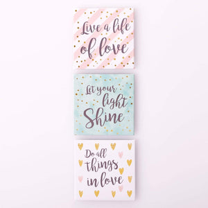 Live a Life of Love Magnet - Set of 3