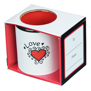 Love Coffee Mug - White with Red in Gift Box