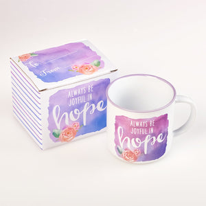 Be Joyful in Hope Coffee Mug with Gift Box