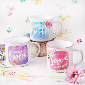 Love Hope Faith Watercolor Collection