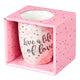 Live a Life of Love Inspirational Mug in Gift Box