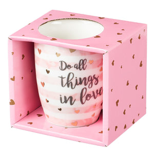 Do All Things in Love Inspirational Mug in Gift Box