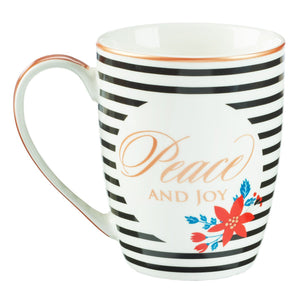 Peace and Joy Christmas Mug Back