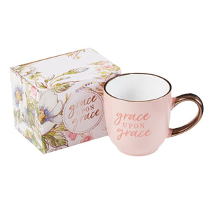 Grace Upon Grace Coffee Mug - Pink with Gift Box