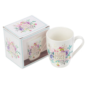 Faith Hope Love Coffee Mug with Gift Box