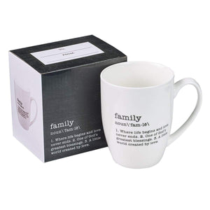 Family Definition Coffee Mug with Gift Box