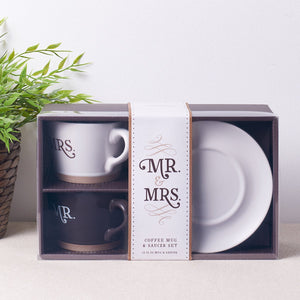 Better Together - Mr. and Mrs. Coffee Mug Set in Gift Box