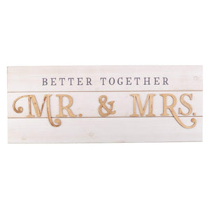 Better Together - Mr. and Mrs. Wall Art