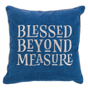 Blessed Beyond Measure Square Pillow