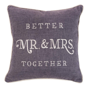 Better Together - Mr. and Mrs. Pillow - Square