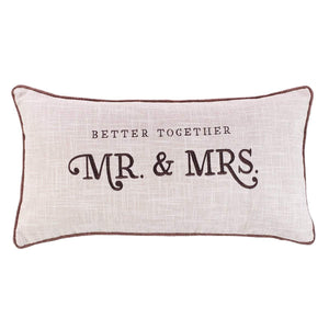 Better Together - Mr. and Mrs. Pillow - Oblong