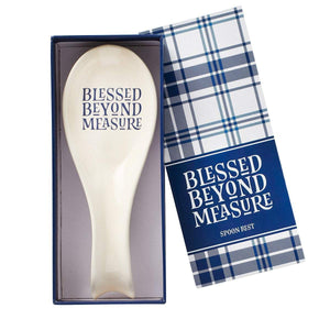 Blessed Beyond Measure Spoon Rest in Gift Box