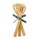 Love, Blessings, Joy Wooden Spoon Set Tied in Ribbon Back