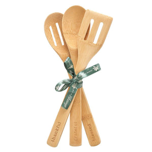 Thankful, Grateful, Blessed Wooden Spoon Set tied in Ribbon