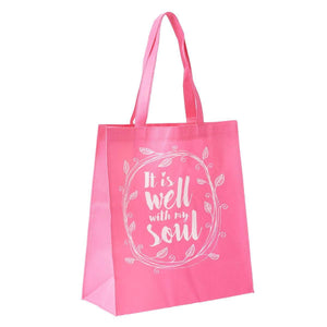 It is Well with My Soul Tote Bag Angle