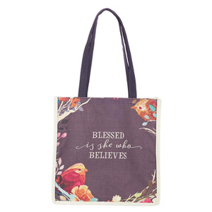 Blessed Is She Canvas Tote Bag