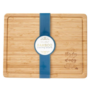 Cutting Board Bamboo Give us this Day with Packaging