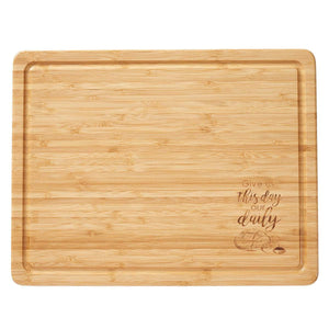 Cutting Board Bamboo Give us this Day