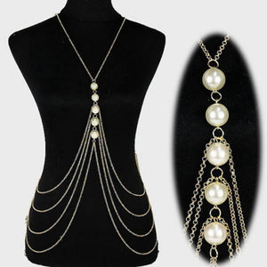 Pearls Body Necklace