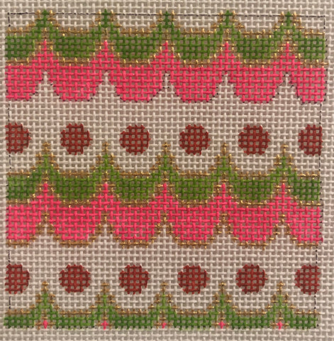 024A Pink, orange, chartreuse Mexican geometric 3