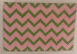 Planet Earth Credit Card Case Insert – Zigzag – pink & lime w/ periwinkle letter