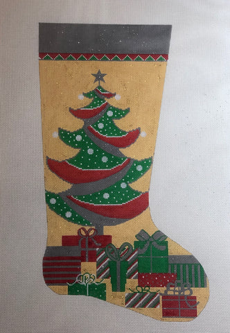 Tree and Gift Stocking ap2842