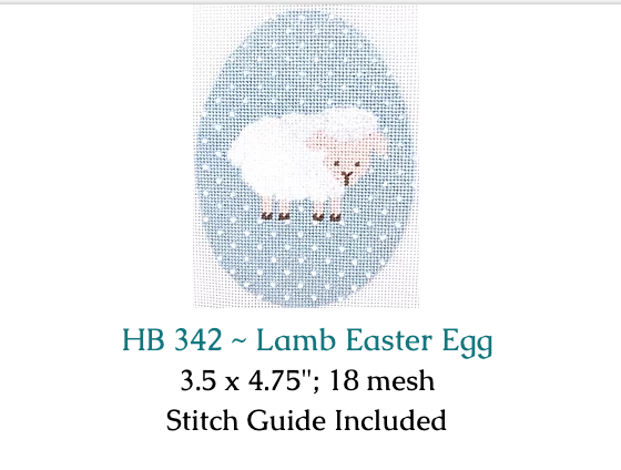 Hummingbird:HB-342 (Lamb Egg with stitchguide)