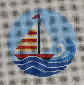 Christine Saunders:CB-07 (Sailboat Ornament)