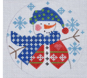 Cheryl Huckaby:CH-332 (Snowman with Vest Ornament)