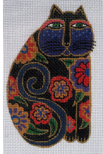 Laurel Burch:LB-14 (Black Floral Cat)