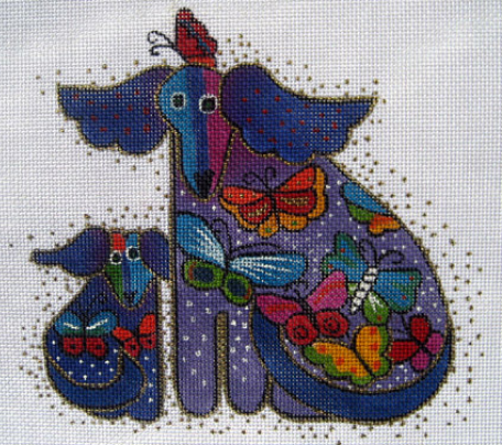 Laurel Burch:LB-16 (Dogs with Butterflies)