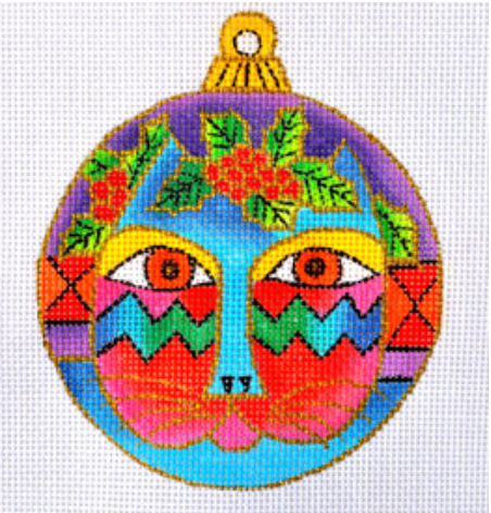 Laurel Burch:LB-35 (Cat Face Ornament)