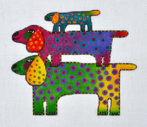 Laurel Burch:LB-45 (Dog Tribe)