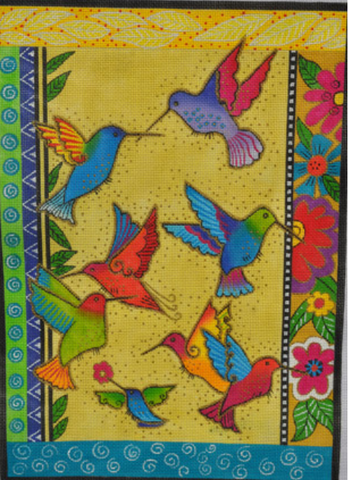 Laurel Burch:LB-61 (Rainbow Hummingbirds)