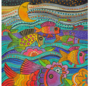 Laurel Burch:LB-88 (Fanciful Fish)