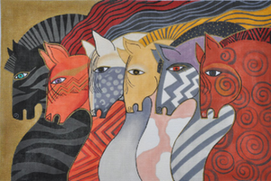 Laurel Burch:LB-106 (Moroccan Mares)