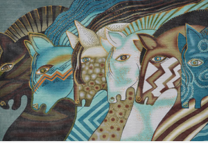 Laurel Burch:LB-118 (Embracing Horses)