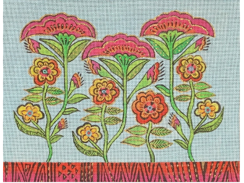 Laurel Burch:LB-147 (Growing Flowers)